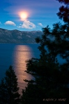 Moonrise Over Lake Tahoe.