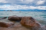 Rocks along Lake Tahoe shoreline.