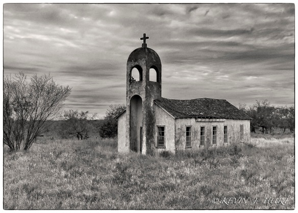 Abandoned Rural Church - B & W rendering in Silver Effex Pro.